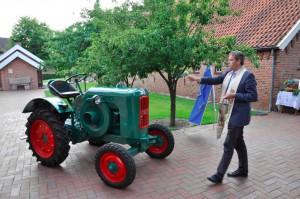 Segnung Traktor