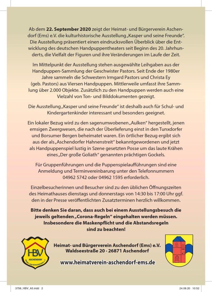 August 2020 Hbv Aschendorf